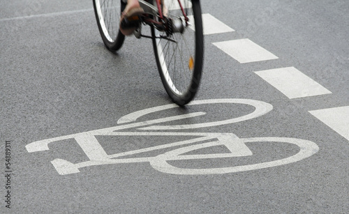 canvas print picture fahrradweg