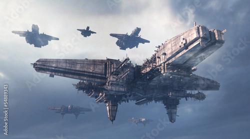 Leinwanddruck Bild 3d UFO