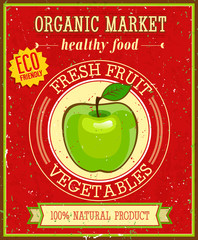 Organic market. Vector illustration.