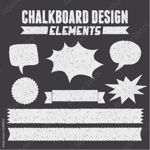 Chalkboard Design Elements Collection