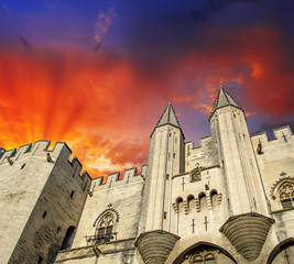 Popes' Palace of Avignon, unesco world heritage in Southern Fran