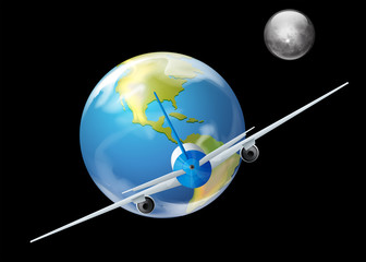 Earth and the plane