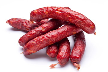 Smoked sausages.