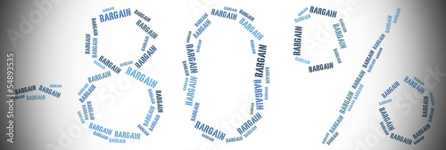 Tag or word cloud sale or discount related in shape of