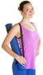 Lady Carrying Yoga Mat
