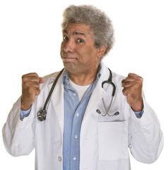 Doctor with Clenched Fists
