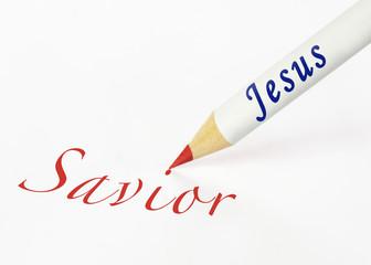 Jesus spells savior