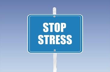 panneau stop stress