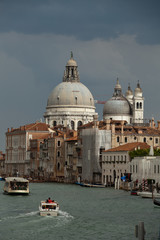 Venice - the view on Canal Grande and Salute before the storm