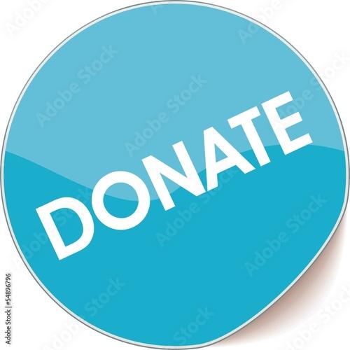 étiquette donate