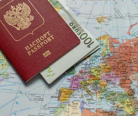 Заграничный паспорт гражданина России на карте мира