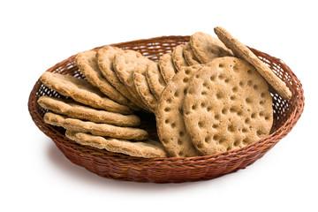 Crispbread in basket