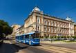 Modern tram EU8N in Krakow - Poland
