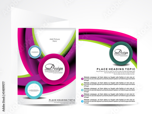 colorful wave brochure design