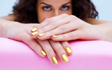 manicured woman fingernails
