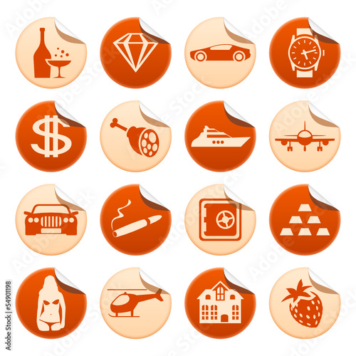 Luxury life stickers