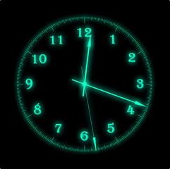 Laser clock  green