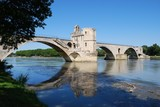 Saint Benezet bridge on Rhone river, Avignon, Provence, France