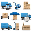Vector shipment icons set 4