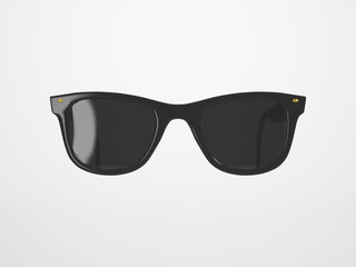 Black Sunglasses on bright Background