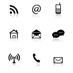 e-mail icons set, contact buttons