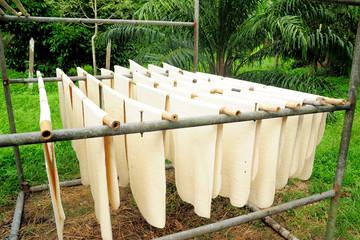 Air Drying Para Rubber Sheets