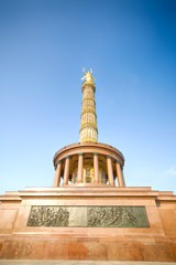 The Victory Column in Berlin on a summer day