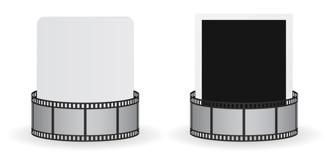 film roll strip with card and photo