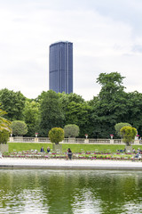 Montparnasse Tower view from Luxemburg gardens, Paris