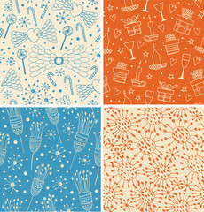 Vintage collection of holidays patterns