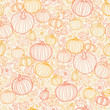 Vector Thanksgiving line art pumkins seamless pattern background - 54905726