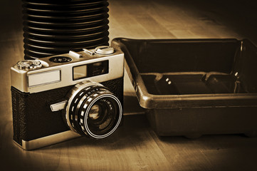 analog photography equipment