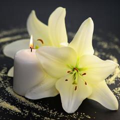 Lilie,Kerze