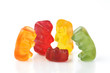 Gummy bear - four grandparents around a single spoilt grandchild
