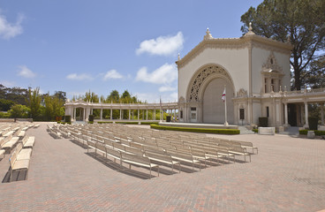 Balboa park outdoor concert and theater California.
