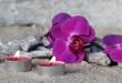 Teelichter mit Orchideenblüte