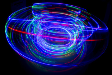 abstract light pattern