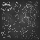 Christmas doodles set eps 10