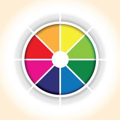 a circle colourful pie chart segment background