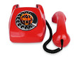 Open telephone vintage red phone
