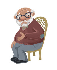 anciano sentado