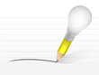 light bulb and pencil. illustration design