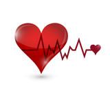 heart lifeline illustration design poster