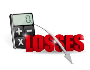 adding all the losses on a calculator.