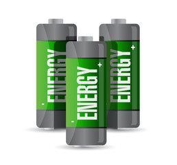 energy batteries. illustration design