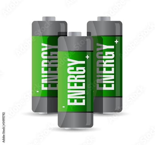 energy batteries. illustration design