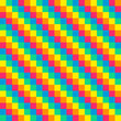8-bit seamless diagonal rainbow background tile