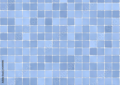 Background of bathroom tiles in light blue color