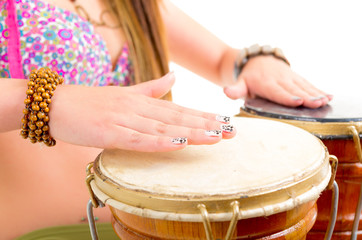 Playing the drum