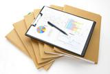Fototapety ビジネスイメージ―ファイルと資料とボールペン